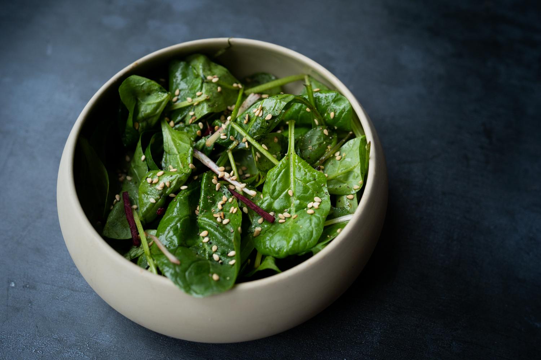 Salade de pousses d'épinard