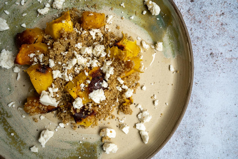 Courge, quinoa et feta