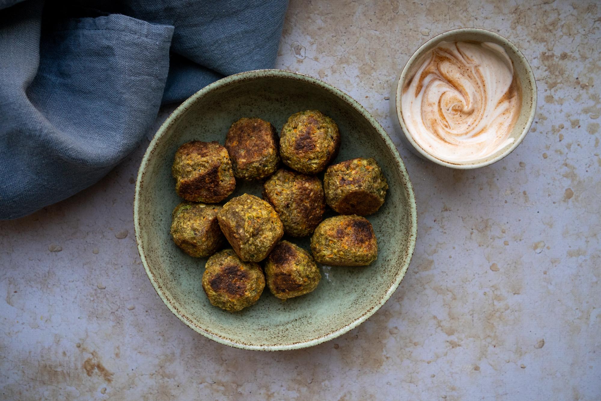 Boulettes légumes et cacahuètes