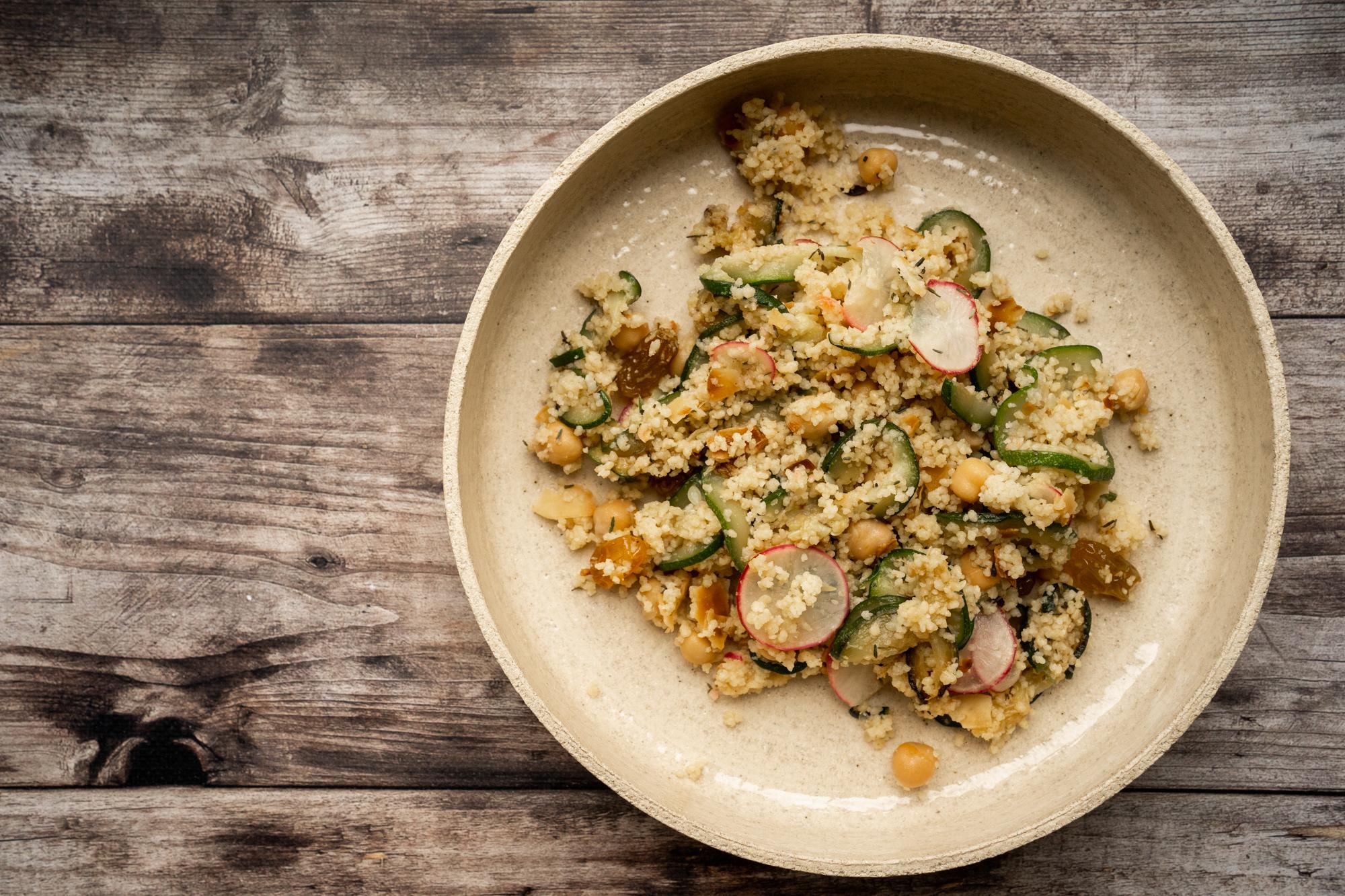 Salade autour du couscous