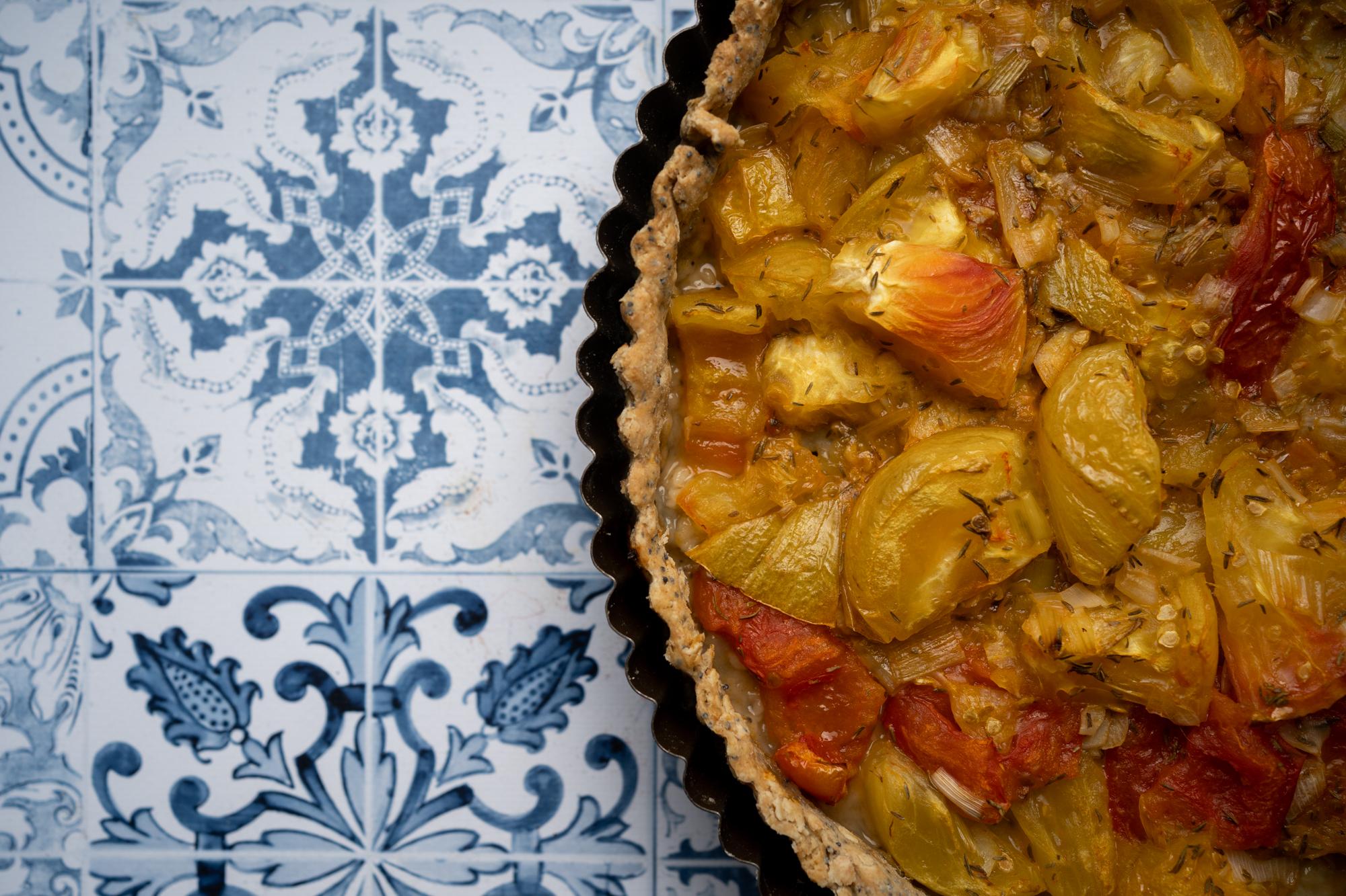Tarte tomates/flocons d'avoine