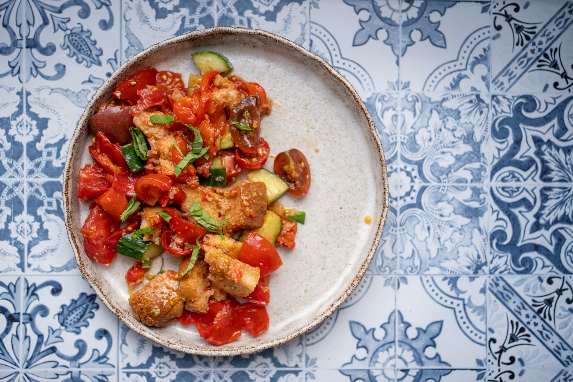 Panzanella tomate poivron