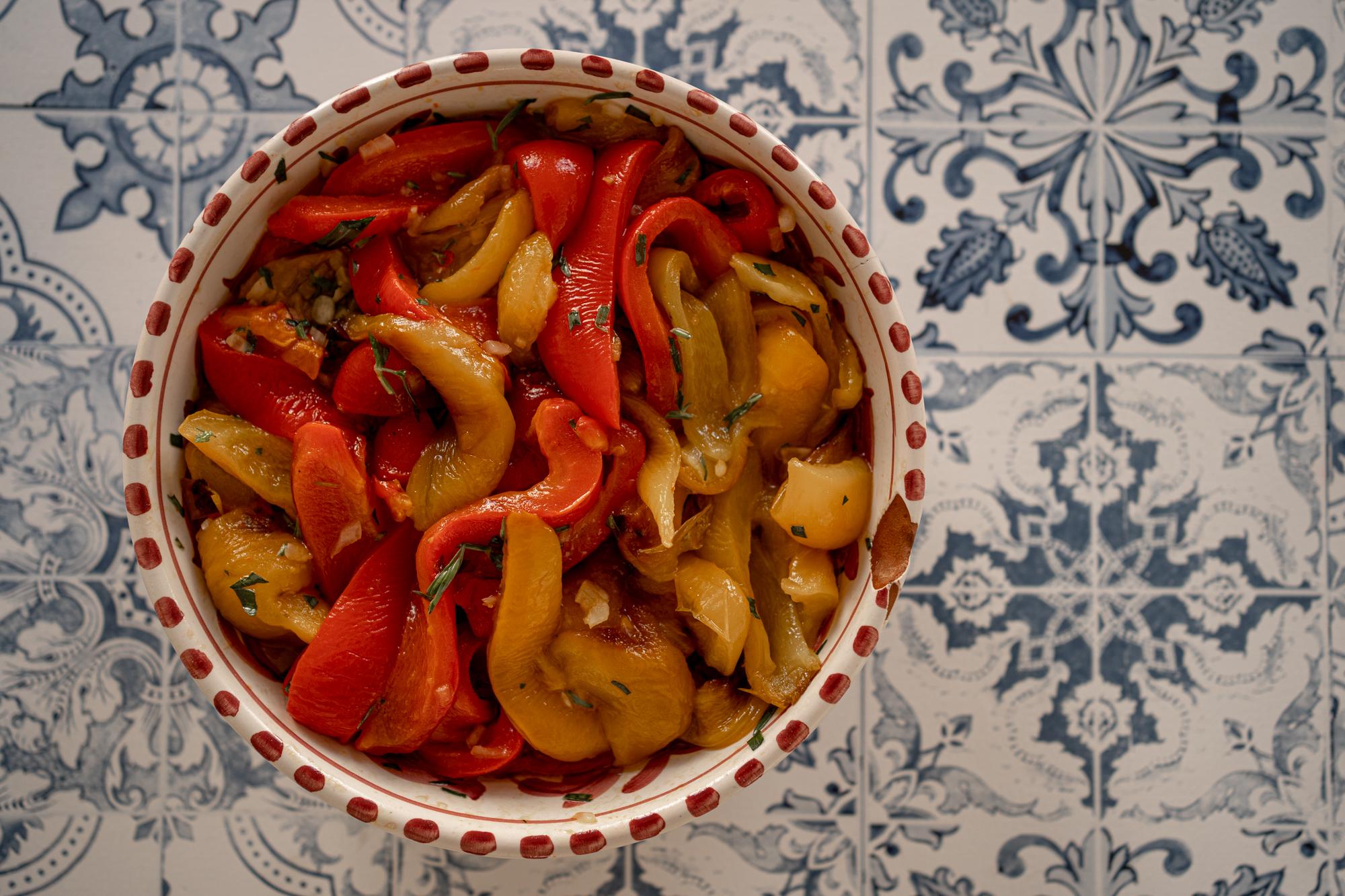 Assiette de poivrons