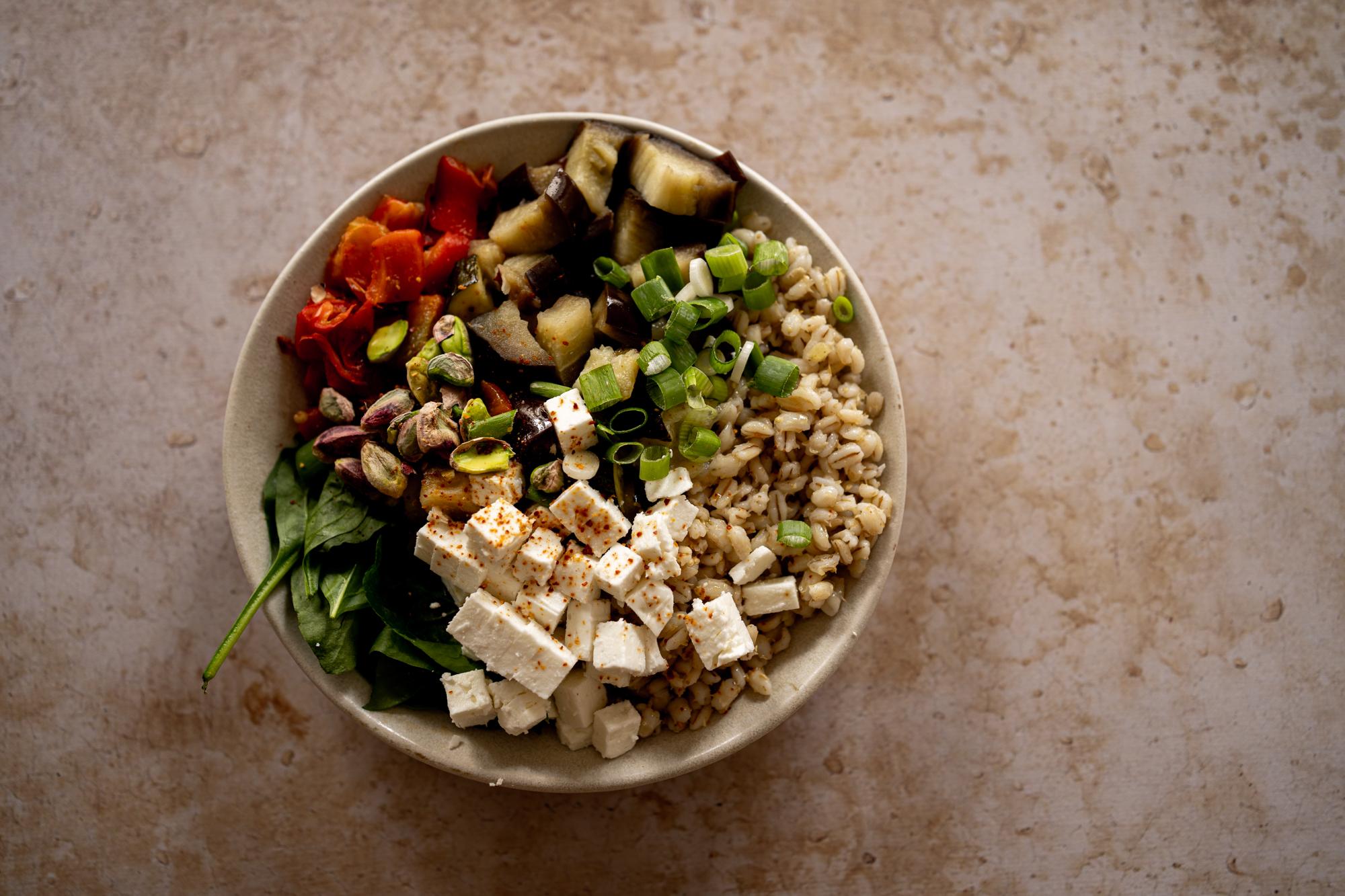 Salade de légumes grillés et orge